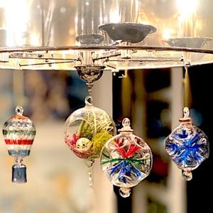 Hand blown Christmas ornaments from Poland